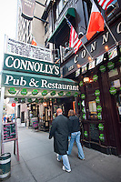 The Connolly's Pub & Restaurant  in Midtown in New York is seen on Saturday, March 5, 2011. In advance for St. Patrick's Day. (© Richard B. Levine)