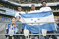 Honduras fans. Honduras defeated Haiti 1-0 during the First Round of the 2009 CONCACAF Gold Cup at Qwest Field in Seattle, Washington on July 4, 2009.