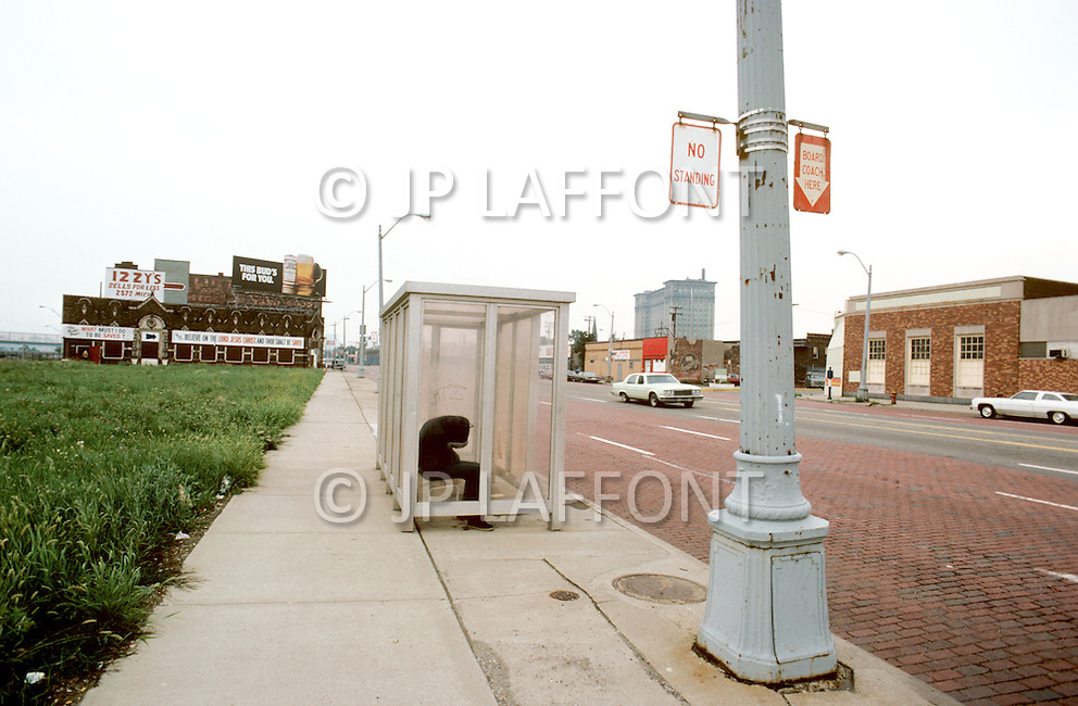 Detroit, Michigan, U.S.A, December, 1980. America severly marked by the recession.