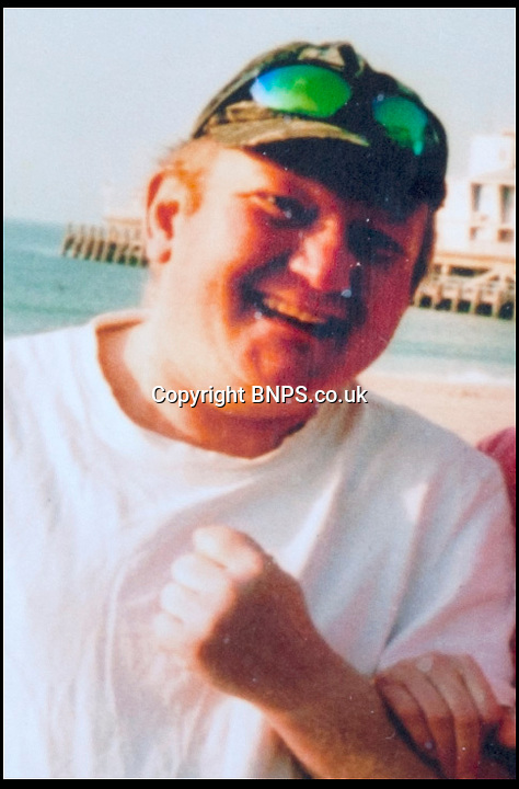 BNPS.co.uk (01202) 558833<br /> Picture: Collect/BNPS<br /> <br /> Andrew Young at Bournemouth Beach, Dorset.<br /> <br /> Andrew Young, 40, became embroiled in an argument with Victor Ibitoye after he blasted him for riding his bike on the pavement.