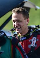 May 18, 2012; Topeka, KS, USA: NHRA funny car driver Bob Tasca III during qualifying for the Summer Nationals at Heartland Park Topeka. Mandatory Credit: Mark J. Rebilas-