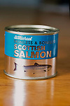 Farmed salmon product from Scottish salmon farms