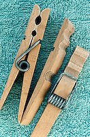 FIRST CLASS LEVER<br /> Clothes Pins<br /> Clothes pins-showing spring