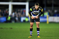 Matt Banahan of Bath Rugby looks on. Aviva Premiership match, between Bath Rugby and Gloucester Rugby on February 5, 2016 at the Recreation Ground in Bath, England. Photo by: Patrick Khachfe / Onside Images