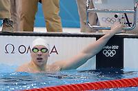 Olympia 2012 London   Aquatics Centre  28.07.2012 Paul Biedermann (GER) nach seinem Vorlauf 4ueber 400 Meter Freistil