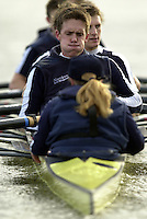 London, GREAT BRITAIN. Oxford University Boat Club Trail VIIIs.Putney to Mortlake. Health and Safety.2003 Oxford University Boat Club president - Matt Smith, Varsity: Boat Race   [Mandatory Credit: Peter Spurrier: Intersport Images]