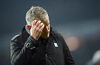 FUSSBALL   1. BUNDESLIGA   SAISON 2012/2013    20. SPIELTAG SV Werder Bremen - Hannover 96                           01.02.2013 Trainer Mirko Slomka (Hannover 96)  ist enttaeuscht