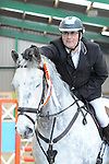 Class 8. 85cm. Unaffiliated showjumping. Brook Farm Training Centre. Essex. 12/02/2017. MANDATORY Credit Ellen Szalai/Sportinpictures - NO UNAUTHORISED USE - 07837 394578