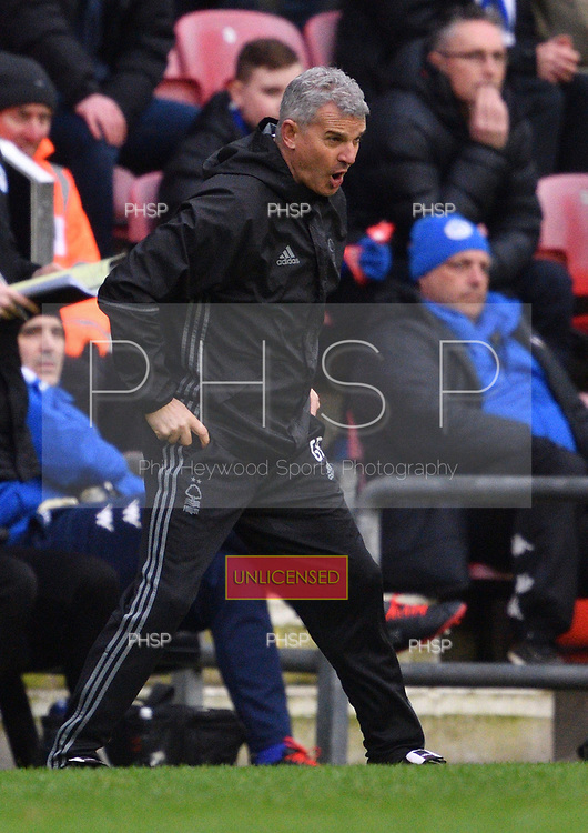 25/02/2017 Sky Bet Championship Wigan Athletic v Nottingham Forest<br /> <br /> Nottingham Forest manager, Gary Brazil