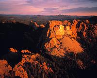 Aerial View of Mount Rushmore at Dawn, Mount Rushmore National Memorial, Black Hills, South Dakota