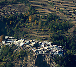 Following an October 8, 2005, earthquake, part of a devastated village in northern Pakistan.