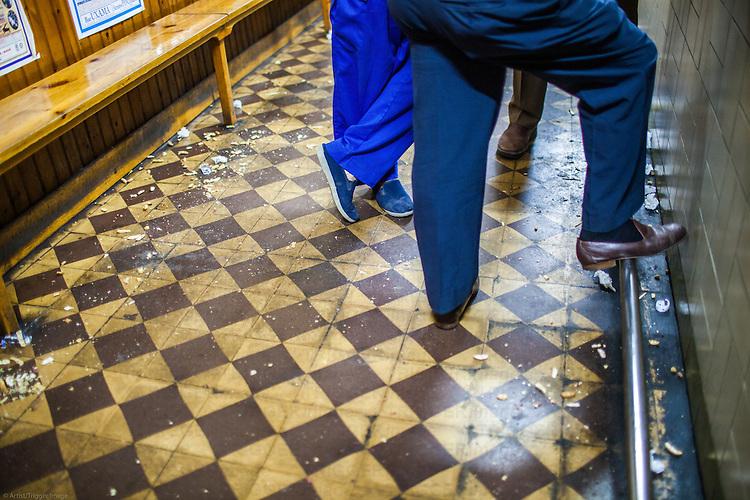 The floor of an old tavern, plenty of litter, Burgo de Osma, Soria, Spain