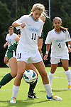 30 September 2012: UNC's Kelly McFarlane (11). The University of North Carolina Tar Heels defeated the University of Miami Hurricanes 6-1 at Fetzer Field in Chapel Hill, North Carolina in a 2012 NCAA Division I Women's Soccer game.