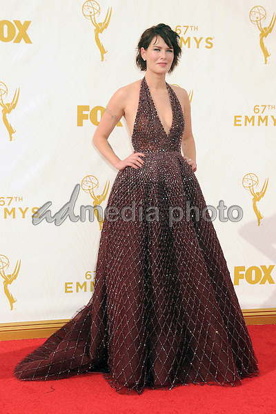 20 September 2015 - Los Angeles, California - Lena Headey. 67th Annual Primetime Emmy Awards - Arrivals held at Microsoft Theater. Photo Credit: Byron Purvis/AdMedia