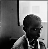 Kuito, Angola, May, 22, 2006.Felipe Soares, 15, suffers from Tuberculosis and is a patient in Bi&eacute; Province Hospital. TB is endemic in the region, fueled by poverty, malnutrition, inadequate hygiene and the rapid spreading of HIV/AIDS since the end of the civil war in 2002.