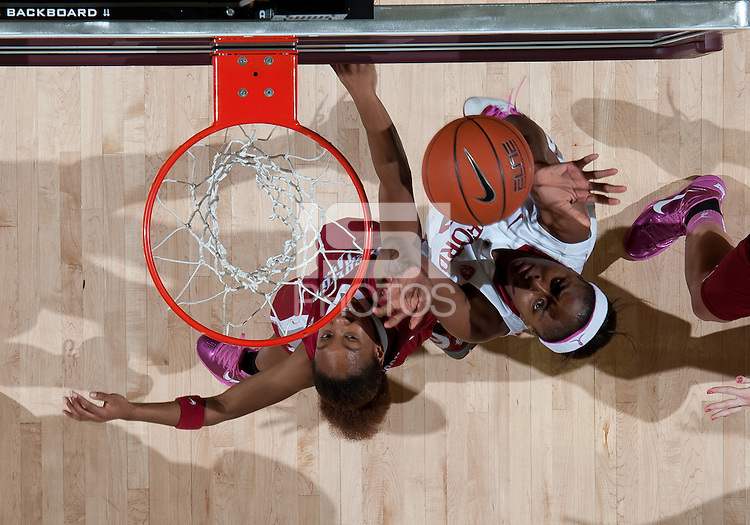 STANFORD, CA - February  10, 2011: Stanford Cardinal's Nnemkadi Ogwumike during the Stanford 100-59 win over Washington State at Maples Pavilion in Stanford, California.
