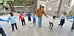 Refugee children play together in a school in Cairo, Egypt, operated by St. Andrew's Refugee Services, which is supported by Church World Service.