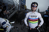 Mark Cavendish at the start..74th Gent-Wevelgem (2012).236km between Deinze & Wevelgem.winner 2012: Tom Boonen..