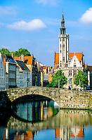 Looking to Jan Van Eyckplein (square), Brugge, Belgium