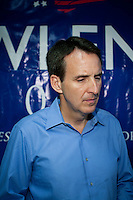 Republican presidential candidate Tim Pawlenty campaigns on Tuesday, July 19, 2011 in Boone, IA.
