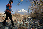 Mt Fuji seen from  parts of the Asagiri Plateau in Shizuoka Prefecture Japan on 22 March 2013.  Photographer: Robert Gilhooly