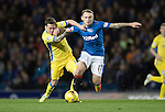 Rangers v St Johnstone&hellip;26.10.16..  Ibrox   SPFL<br />Danny Swanson is fouled by Lee Hodson<br />Picture by Graeme Hart.<br />Copyright Perthshire Picture Agency<br />Tel: 01738 623350  Mobile: 07990 594431