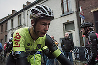 an emotional &amp; exhausted Alex Kirsch (LUX/WB Veranclassic - Aqua Protect) rolling in after finishing; crying because of finishing a close 2nd to what could have been his biggest career win...<br /> <br /> GP Le Samyn 2017 (1.1)