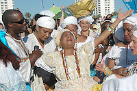 Members of Viver Brasil honor the Sea during the 2011 World Festival of Sacred Music Opening at Santa Monica Beach on Saturday, October 1, 2011.