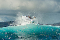 Namotu Island Resort, Nadi, Fiji (Sunday, June 12 2016): Taj Burrow (AUS) -The Fiji Pro, stop No. 5 of 11 on the 2016 WSL Championship Tour, was called off again today due to the lack of contestable swell at Cloudbreak. The contest is still facing a number of lay days due to the small surf conditions.  There was a slight increase in the swell this morning and the winds had moved back to light Trades. Photo: joliphotos.com