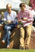 HOT SPRINGS, AR - MARCH 18: Fans study their programs in between races before the running of the Rebel Stakes at Oaklawn Park on March 18, 2017 in Hot Springs, Arkansas. (Photo by Justin Manning/Eclipse Sportswire/Getty Images)