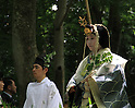 A Kyoto tradition Since the 6th centruy the Aoi Matsuri (Hollyhock Festival) procession moved through Shimogamo Shrine, a UNESCO World Heritage Site.  The festival was begun in the 500s as a plea against famine and disease.  Now, people from the local community take the places of the Imperial family and retinue..