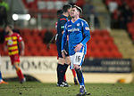 St Johnstone v Partick Thistle&hellip;02.03.16  SPFL McDiarmid Park, Perth<br />Danny Swanson reacts to a missed chance<br />Picture by Graeme Hart.<br />Copyright Perthshire Picture Agency<br />Tel: 01738 623350  Mobile: 07990 594431