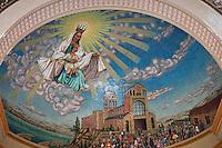 Santuario di Tindari, cupola sovrastante l'altare maggiore<br /> Tindari sanctuary mosaic above high altar