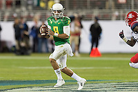 SANTA CLARA, CA - December 5, 2014: The PAC 12 Championship game between the Oregon Ducks and the Arizona Wildcats at Levi Stadium in Santa Clara, California. Final score, Oregon Ducks 51, Arizona Wildcats 13.