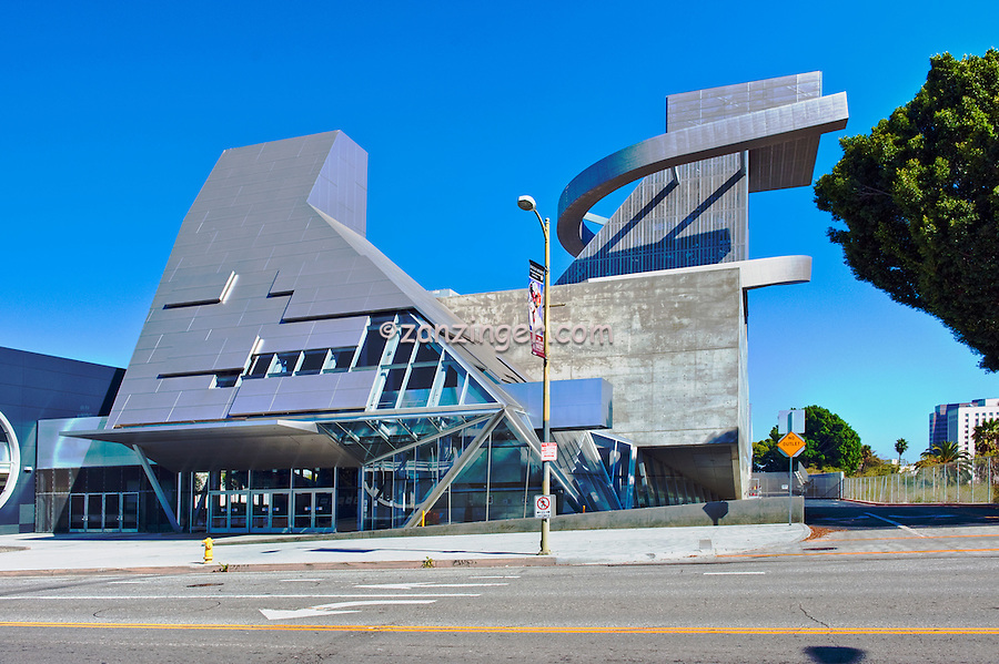 Visual, Performing Arts, High School, Downtown, Los Angeles, CA, ultra modern, new Public High School, Downtown, Los Angeles, Dramatic, controversial, architecture, Designed by Wolf D. Prix and the Austrian firm Coop Himmelblau.