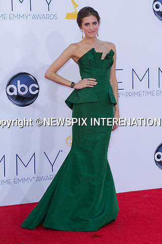 "ALLISON WILLIAMS - 64TH PRIME TIME EMMY AWARDS.Nokia Theatre Live, Los Angelees_23/09/2012.Mandatory Credit Photo: ©Dias/NEWSPIX INTERNATIONAL..**ALL FEES PAYABLE TO: ""NEWSPIX INTERNATIONAL""**..IMMEDIATE CONFIRMATION OF USAGE REQUIRED:.Newspix International, 31 Chinnery Hill, Bishop's Stortford, ENGLAND CM23 3PS.Tel:+441279 324672  ; Fax: +441279656877.Mobile:  07775681153.e-mail: info@newspixinternational.co.uk"