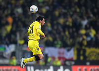 FUSSBALL   1. BUNDESLIGA  SAISON 2011/2012   20. Spieltag 1. FC Nuernberg - Borussia Dortmund         03.02.2012 Lucas Barrios (Borussia Dortmund)