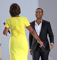 NEW YORK, NY-August 16: Gayle king, John Legend performed at  the Grand opening of Westfield World Trade Center Mall World Trade Center in New York. August 16, 2016. Credit:RW/MediaPunch