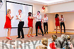 Dancing for the Dromid GAA Strictly Come Dancing event were l-r; Paula Brennan, Mike O'Shea, Leona Burke, Daniel Curran, Patria O'Shea, Patrick McDaid, Susan Goggin & Denis Shin O'Sullivan.