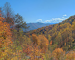 View from the overlook at the entrance to the Cataloochee section of the Great Smoky Mountains National Park. Three exposure HDR image.