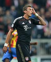 FUSSBALL   CHAMPIONS LEAGUE   SAISON 2012/2013   GRUPPENPHASE   FC Bayern Muenchen - FC Valencia                            19.09.2012 Enttaeuschung nach dem verschossenenem Elfmeter, Mario Mandzukic (FC Bayern Muenchen)