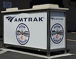 Amtrak Train system baggage counter at Stockton Railway Station