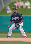 14 March 2016: Atlanta Braves infielder Ozzie Albies, ranked the Number 3 Top Prospect in the Braves organization for 2016 by MLB and Number 6 by Baseball America, in action during a Spring Training pre-season game against the Tampa Bay Rays at Champion Stadium in the ESPN Wide World of Sports Complex in Kissimmee, Florida. The Braves shut out the Rays 5-0 in Grapefruit League play. Mandatory Credit: Ed Wolfstein Photo *** RAW (NEF) Image File Available ***