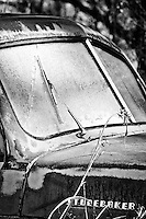 Frosty Studebaker Truck - New Mexico - winter - Black and White<br />