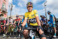 Picture by Alex Broadway/SWpix.com - 12/03/17 - Cycling - 2017 Paris Nice - Stage Eight - Nice to Nice - Sergio Henao of Team Sky lines up before the start.