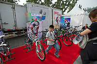 A swag tent at the start of the 2011 Tour of Beijing, Stage 1 ITT