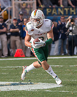 Miami wide receiver Braxton Berrios. The Miami Hurricanes football team defeated the Pitt Panthers 29-24 on  Friday, November 27, 2015 at Heinz Field, Pittsburgh, Pennsylvania.
