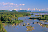Alaska mountain range over the Tanana River, interior, Alaska