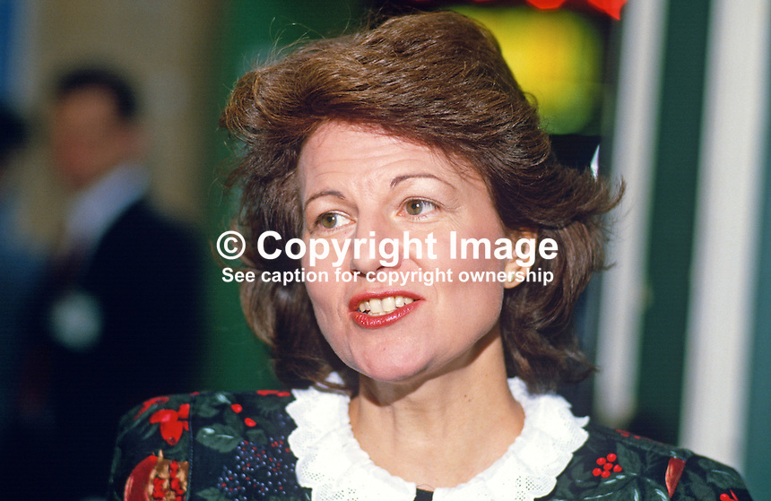 Emma Nicholson, MP, Conservative Party, UK, 19871041EN3<br /> <br /> Copyright Image from Victor Patterson, 54 Dorchester Park, Belfast, UK, BT9 6RJ<br /> <br /> t: +44 28 90661296<br /> m: +44 7802 353836<br /> vm: +44 20 88167153<br /> e1: victorpatterson@me.com<br /> e2: victorpatterson@gmail.com<br /> <br /> For my Terms and Conditions of Use go to www.victorpatterson.com