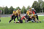 Fabien G&Auml;RTNER (22) (Munich Cowboys) bricht zum Touch Down durch im Spiel der GFL Munich Cowboys - Rhein Neckar Bandits.<br /> <br /> Foto &copy; P-I-X.org *** Foto ist honorarpflichtig! *** Auf Anfrage in hoeherer Qualitaet/Aufloesung Belegexemplar erbeten Veroeffentlichung ausschliesslich fuer journalistisch-publizistische Zwecke For editorial use only.
